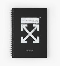 Off-White Brush Arrows Spiral Notebook