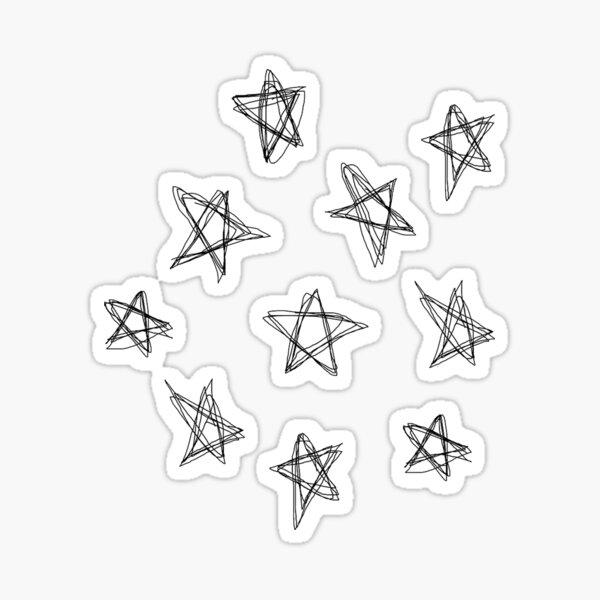 star doodle Sticker