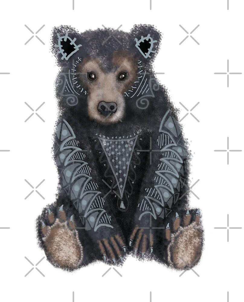 Black Bear Spirit Animal by tinaschofield