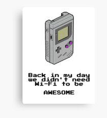 Game Boy Retro Tee Canvas Print