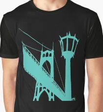 Seasons K Designs St Johns Bridge Graphic T-Shirt