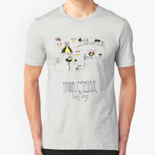 Animal Collective Sung Tongs Concept Art Slim Fit T-Shirt