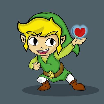 Toon Link: a Heart Container by vdBurg
