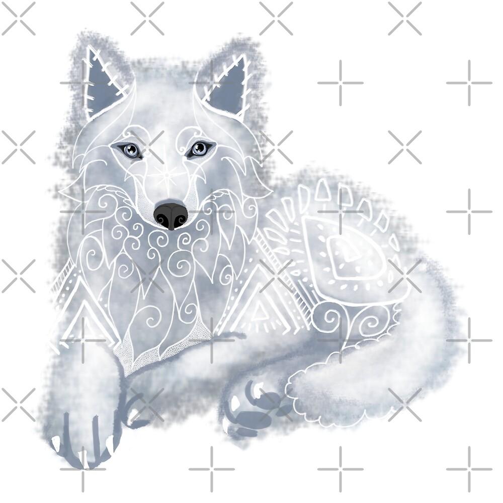 White Wolf Spirit Animal by tinaschofield