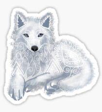 White Wolf Spirit Animal Sticker