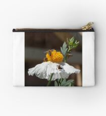 Bees & Bugs sharing a flower Studio Pouch