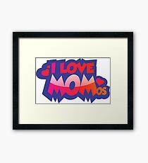 I Love MOMos Framed Print