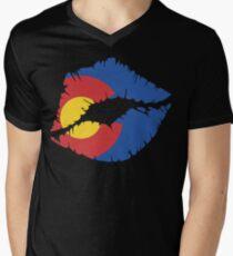 CO Lips Men's V-Neck T-Shirt