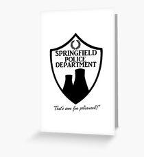 Springfield PD Greeting Card