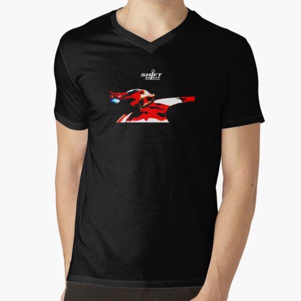 Shift Shirts Flame Throwing Hybrid V-Neck T-Shirt