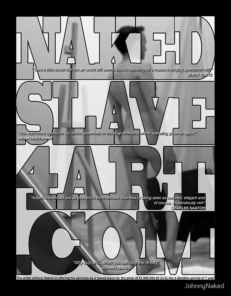 NakedSlave4Art.com Full Page Black & White Magazine Ad by JohnnyNaked