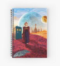 13th Doctor at gallifrey planet Spiral Notebook