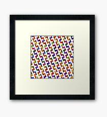 Playful Graphic Diagonal Stripes on Jewel Tone  Framed Print