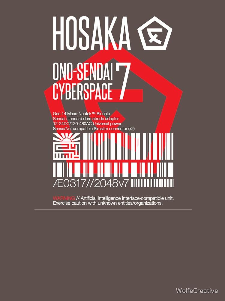 Hosaka Ono-Sendai Cyberspace 7 Label | Unisex T-Shirt