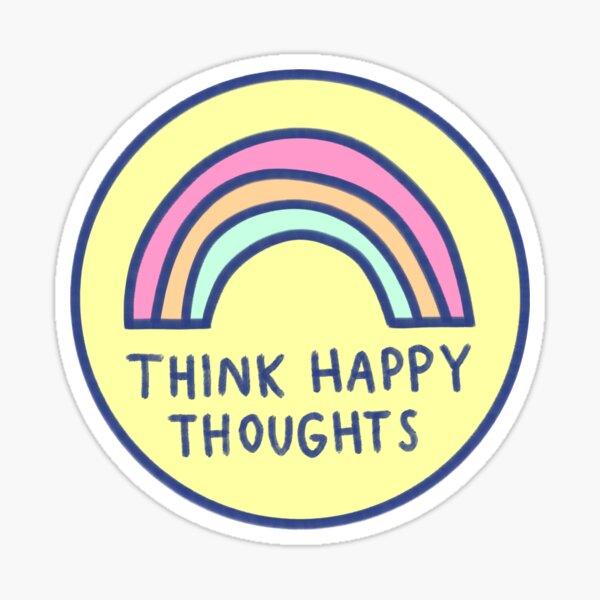 Denk an etwas schönes Sticker