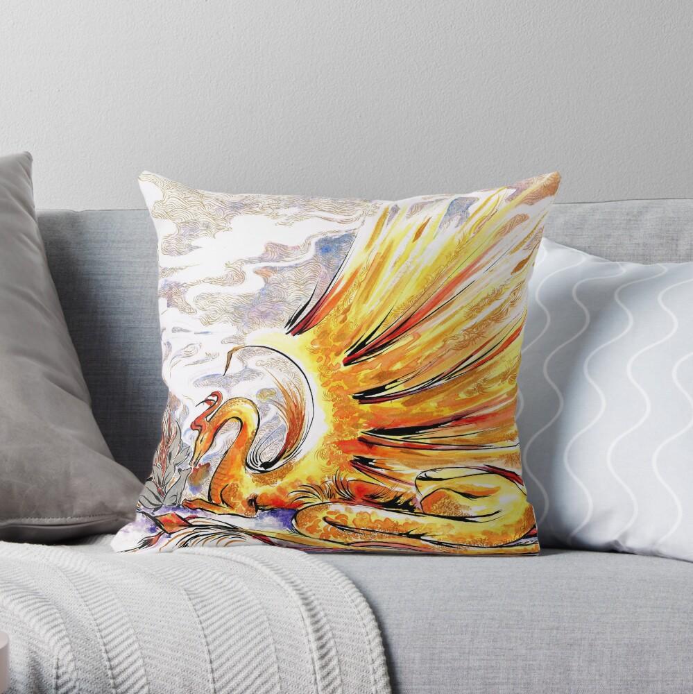 When Dragons Speak Throw Pillow