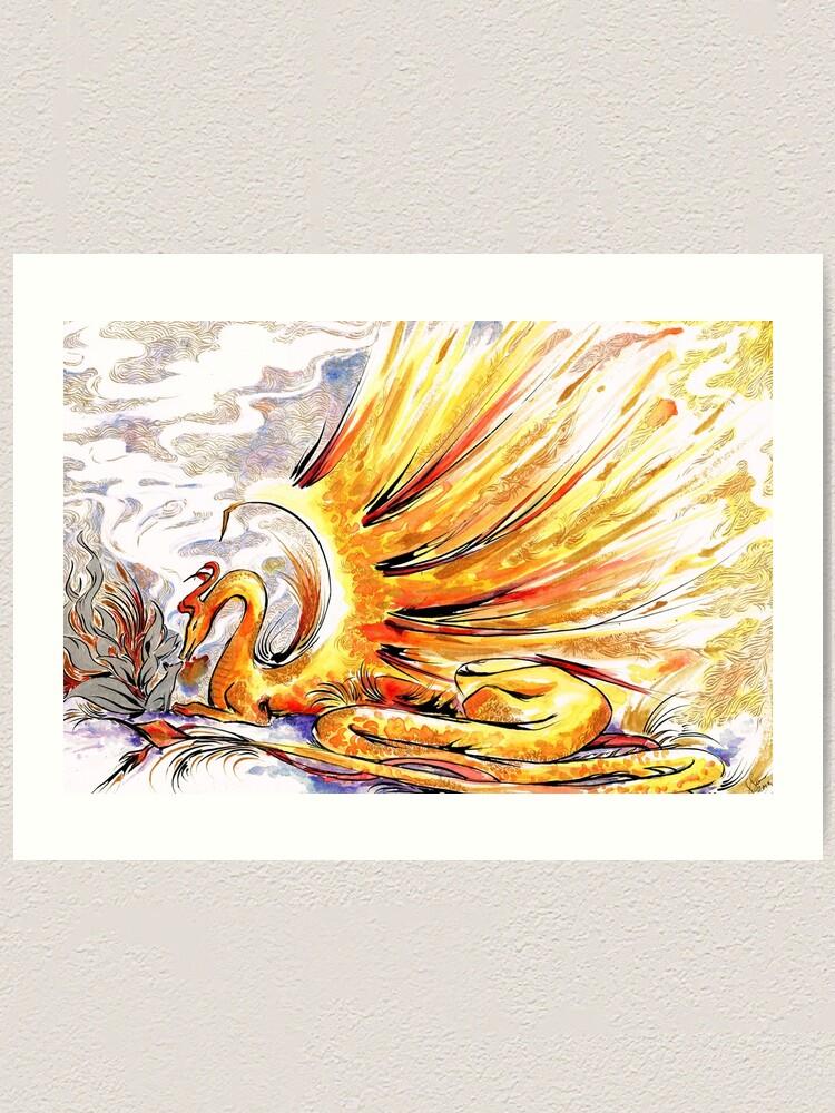 Alternate view of When Dragons Speak Art Print