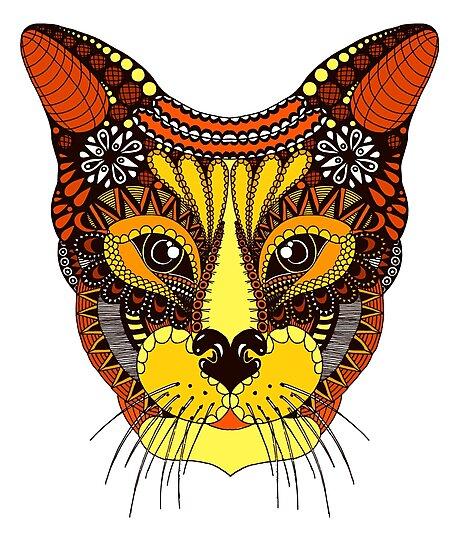 «Gato colorido en estilo mandala» de Aleks2018