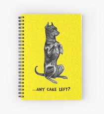 Dobermann - Any Cake Left? Spiral Notebook