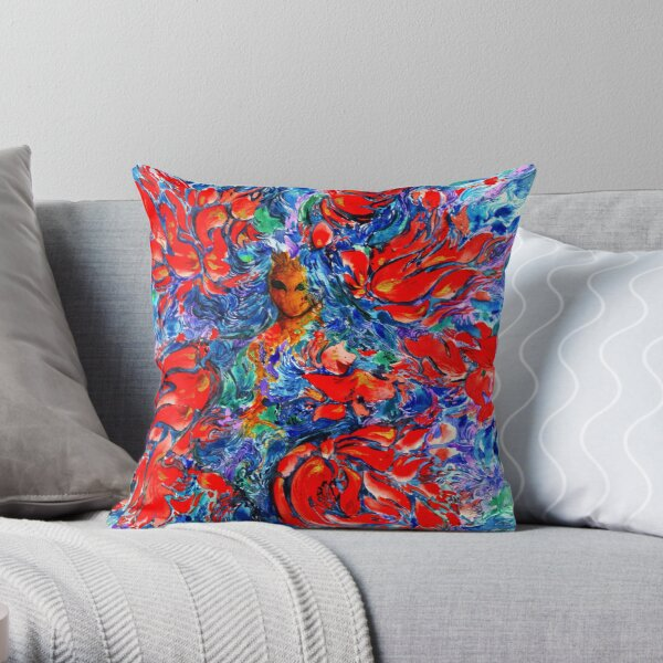 The Drowned Girl Throw Pillow