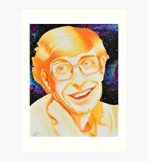 Stephen Hawking Tribute Painting Art Print