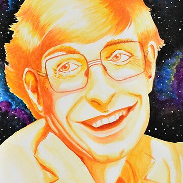 Stephen Hawking Tribute Painting by thewisecarrot