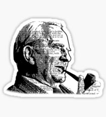 JRR Tolkien Smoking a Pipe Sticker