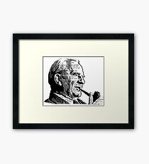 JRR Tolkien Smoking a Pipe Framed Print