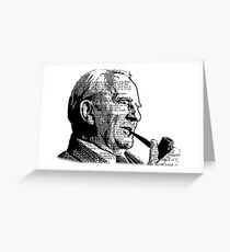 JRR Tolkien Smoking a Pipe Greeting Card