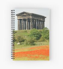 Poppies at Penshaw Monument, County Durham Spiral Notebook
