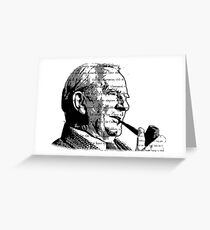 JRR Tolkien Smoking Greeting Card