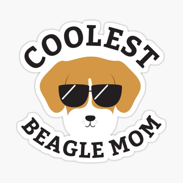 Coolest Beagle Mom Sticker