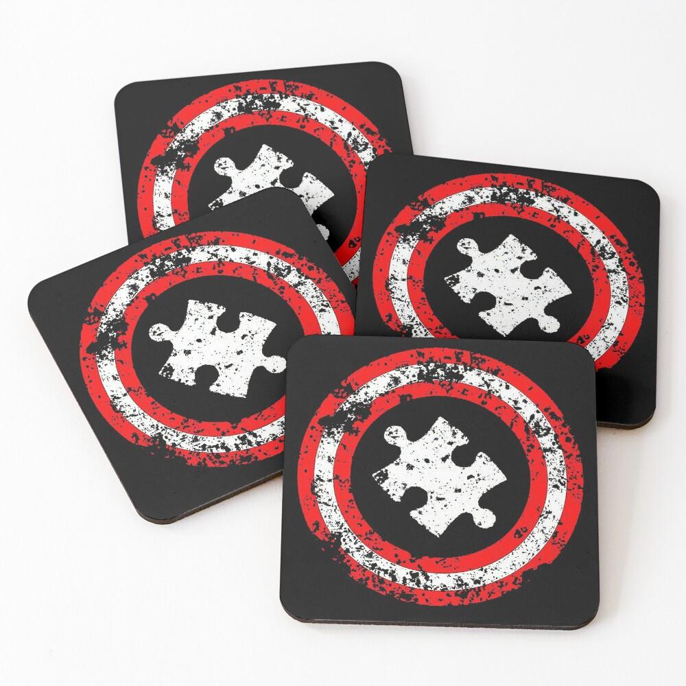 Autism Awareness Graphic Design Coasters (Set of 4)