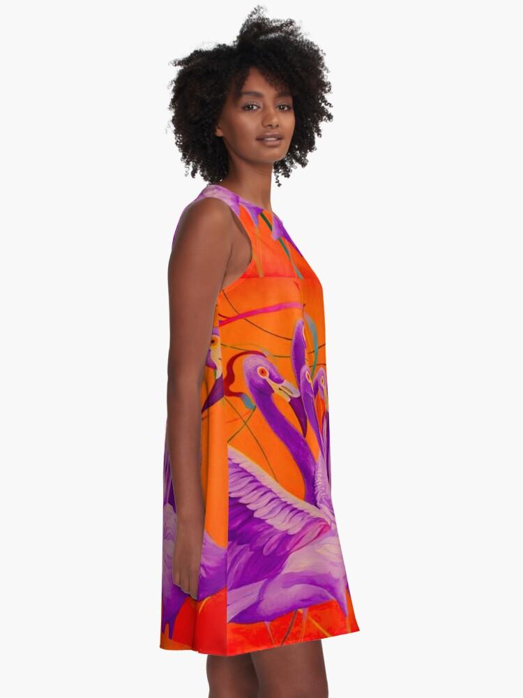 Alternate view of Purple Flamingo A-Line Dress
