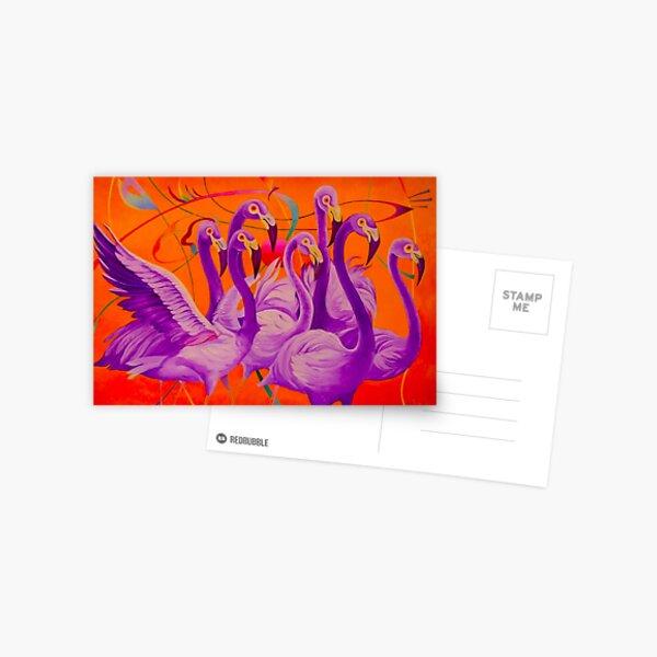 Purple Flamingo Postcard