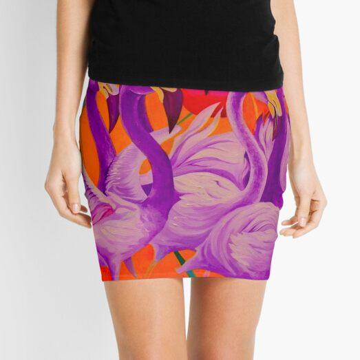 Purple Flamingo Mini Skirt