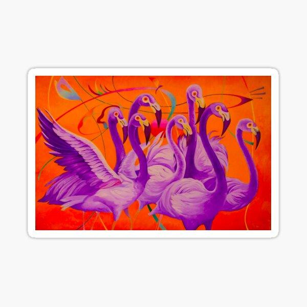 Purple Flamingo Sticker