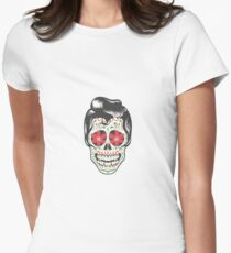 Mexican Skull Women's Fitted T-Shirt