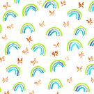 Rainbows and butterflies by Michelle Walker