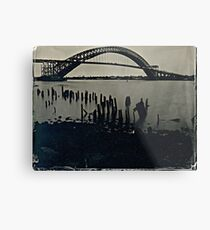 Bayonne Bridge, NJ. Tintype Photograph Metal Print