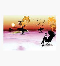 plage Photographic Print