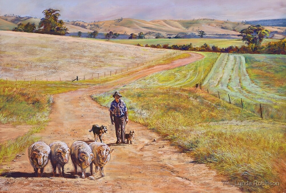 Moving the Rams (Whiteheads Creek) by Lynda Robinson