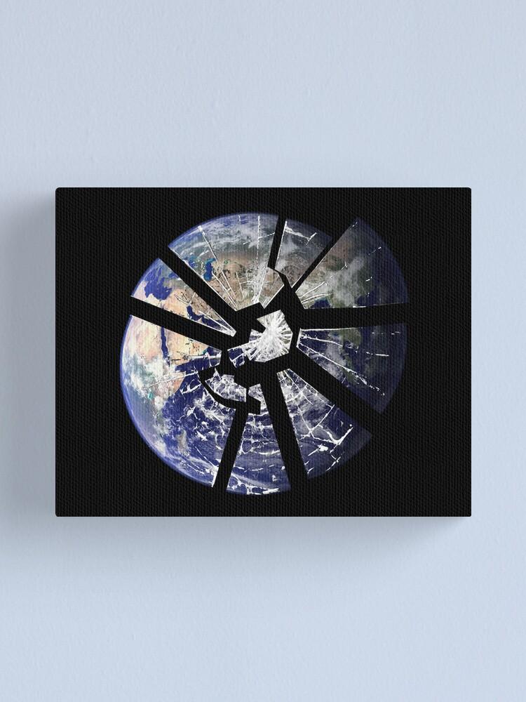 Alternate view of Broken Planet Canvas Print