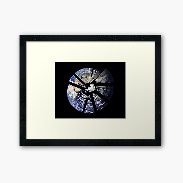 Broken Planet Framed Art Print