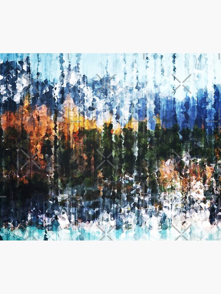 Autumnal Mountain Lake by perkinsdesigns