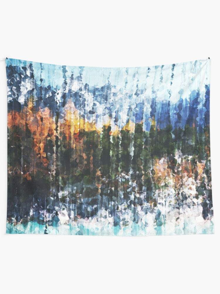 Alternate view of Autumnal Mountain Lake Tapestry