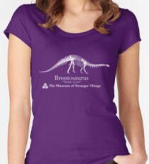 Dustin's Brontosaurus - Stranger Things Women's Fitted Scoop T-Shirt
