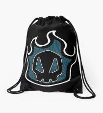 halftone grunge shinigami Drawstring Bag