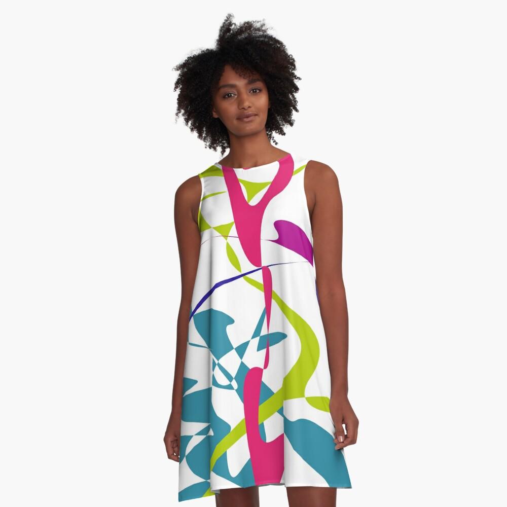 Curved tangram II A-Line Dress