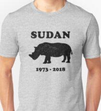 RIP SUDAN, das letzte männliche weiße Nashorn der Welt Slim Fit T-Shirt